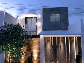 Remo Espinela Fachada: Casas de estilo moderno por GAX Estudio de Arquitectura
