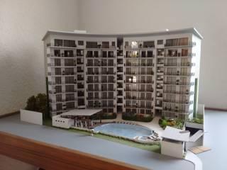 Urban Tower: Casas de estilo moderno por D&E-ARQUITECTURA