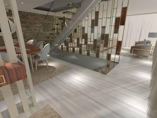 Projeto de Moradia de Luxo em Fão: Corredores e halls de entrada  por Atelier Kátia Koelho