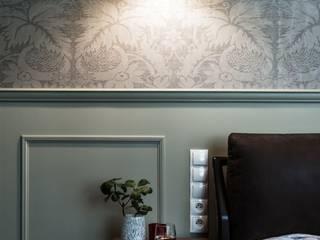 Luksusowy apartament w Warszawie - Saska Kępa Eklektyczna sypialnia od Viva Design - projektowanie wnętrz Eklektyczny