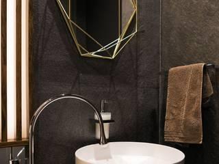 Luksusowy apartament w Warszawie - Saska Kępa Nowoczesna łazienka od Viva Design - projektowanie wnętrz Nowoczesny