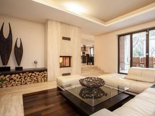 Klausroom Modern Living Room Marble Beige