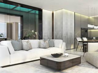 House in Cap Estel, Monaco. Дом в Монако.: Гостиная в . Автор – Марина Анисович, студия NEUMARK