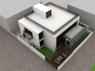 Proposed Bungalow at Barwaha Madhya Pradesh Modern houses by Bodhivraksh Design Studio Modern