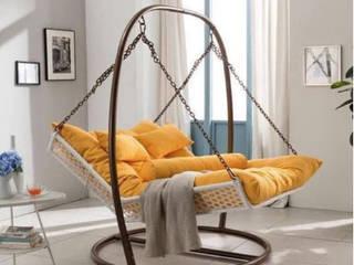 Cama colgante de acero:  de estilo  por DINNOVA muebles