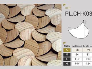 Pladec - Painéis de Madeira Origami: Centros comerciais  por CreativeArq,Moderno