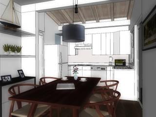 COMEDOR-COCINA: Cocinas de estilo  por WIGO SC