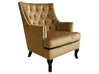 Decordesign Interiores SalasBancos y sillas Textil Ámbar/Dorado