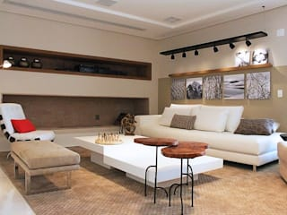 Living room by INSIDE ARQUITETURA E DESIGN, Modern