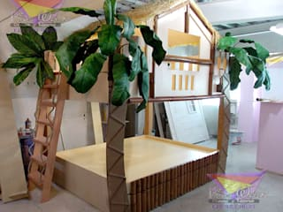 Litera de la jungla: Habitaciones infantiles de estilo  por camas y literas infantiles kids world