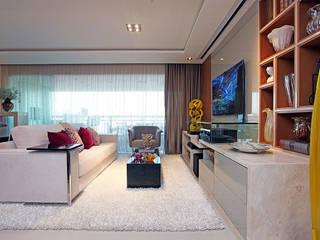 Apartamento Cond. Maison Isabel: Salas de estar  por RI Arquitetura