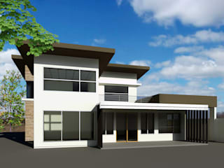 Asian style houses by Zhardei Alyson Architect Asian