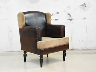 leather sofa: country  by MAKERS ART EXPORT ,Country