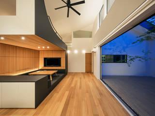 株式会社seki.design Salas de estilo moderno Piedra