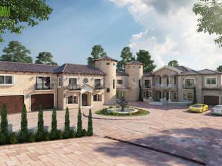 Ultra Semi-Modern Villa Exterior Design Ideas by Yantram Building Construction & Design, California - US:  Commercial Spaces by Yantram Architectural Design Studio