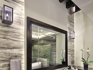 Meseta: Baños de estilo  por Lazza Arquitectos