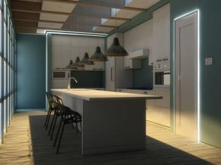 Veletta per luce led bidirezionale tra parete e soffitto:  in stile  di Eleni Lighting