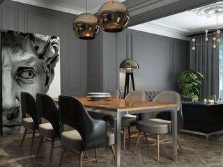"""Дизайн-проект гостиной в загородном доме в КП """"Миллениум парк"""": Гостиная в . Автор – Style Home"""