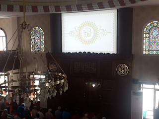 Cami Gergi Tavan Aydınlatma ve Dekorasyonu Klasik Çalışma Odası OTTOVA Gergi Tavan Sistemleri Klasik