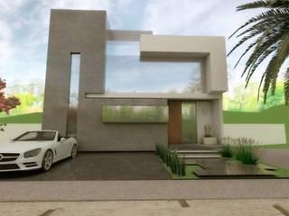 """CASA EN PACHUCA HGO. """"LA CONCEPCION"""": Casas unifamiliares de estilo  por HH ARQUITECTURA"""