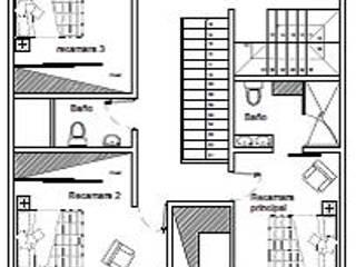 """CASA EN PACHUCA HGO. """"LA CONCEPCION"""": Casas de estilo minimalista por HH ARQUITECTURA"""
