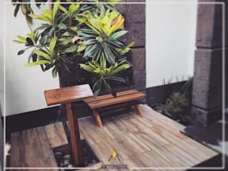 Jardín acceso: Jardines zen de estilo  por Artiphise