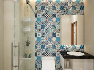 Salle de bains de style  par Công ty TNHH TK XD Song Phát, Moderne Marbre