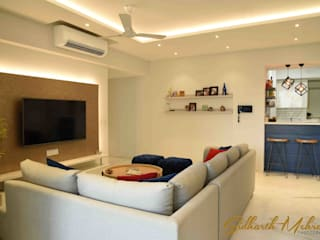 Apartment in TATA Primanti , Sector 72 , Gurgaon Modern living room by Sidharth Mehra Photography Modern