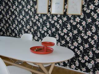 Escritório residencial : Escritórios e Espaços de trabalho  por Tangerinas e Pêssegos - Design de Interiores & Decoração no Porto