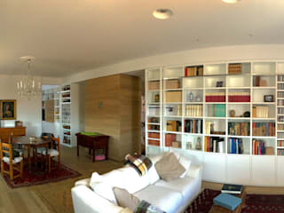 DUOLAB Progettazione e sviluppo Modern Living Room Wood Beige