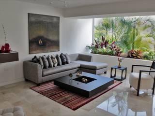 Apartamento en Chulavista: Salas / recibidores de estilo minimalista por RRA Arquitectura