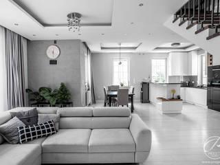 Salas modernas de Progetti Architektura Moderno
