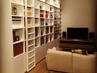DUOLAB Progettazione e sviluppo Living roomShelves Wood White