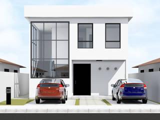 Residência - São José do Rio Preto, SP: Casas familiares  por Paes de Andrade Arquitetura,Eclético