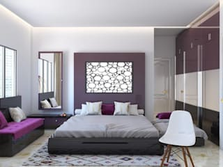 Interiors Colonial style bedroom by Seventh Sky Architects Colonial
