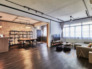 821 Yishun St 81 - Industrial :  Living room by VOILÀ Pte Ltd