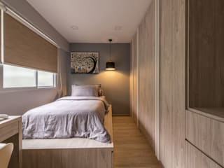 689A Choa Chu Kang - Modern Scandinavian :  Bedroom by VOILÀ Pte Ltd