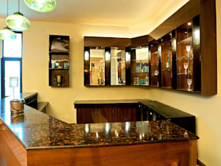 Hospitality Bar Project At GVAI Club Modern bars & clubs by QBOID DESIGN HOUSE Modern