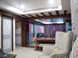 3BHK @ Rustomjee, Thane Rustic style corridor, hallway & stairs by InDeCo Rustic
