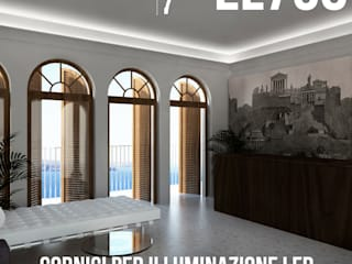 Cornice per led moderna a soffitto:  in stile  di Eleni Lighting
