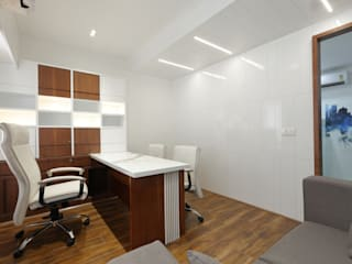 Corporate Office:  Office buildings by malvigajjar,Modern