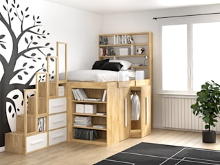 cinius s.r.l. Nursery/kid's roomBeds & cribs Wood