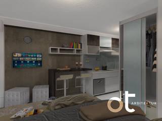 Dormitorios modernos: Ideas, imágenes y decoración de Rumah Desain Tropis Moderno