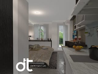 PROJECT APPARTEMEN ICONT BINTARO JAYA TANGERANG SELATAN: Kamar Tidur oleh Rumah Desain Tropis, Modern