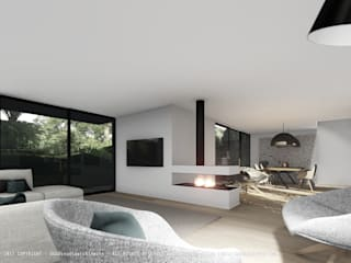 Interior 3D view by OGGOstudioarchitects, unipessoal lda Modern