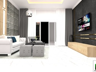 design interior living room american classic low at kota legenda cibubur:   by Aray Interindo