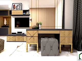 design interior bedroom 1 at kota legenda cibubur:   by Aray Interindo