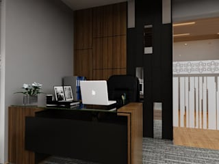 design interior office room GMF Aeroasia at Bandara Soekarno Hatta:   by Aray Interindo