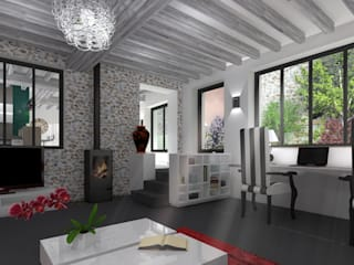 Salas de estar  por AURELIE BENARD ARCHITECTE