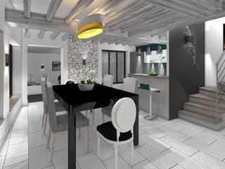 Salas de jantar  por AURELIE BENARD ARCHITECTE